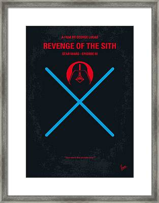 No225 My Star Wars Episode IIi Revenge Of The Sith Minimal Movie Poster Framed Print by Chungkong Art