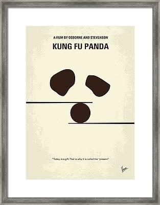 No227 My Kung Fu Panda Minimal Movie Poster Framed Print by Chungkong Art