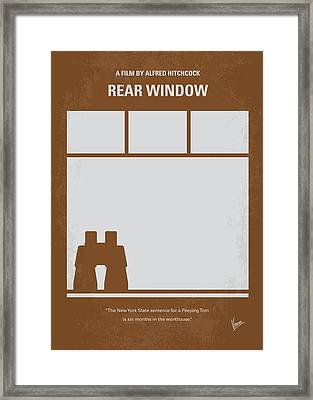 No238 My Rear Window Minimal Movie Poster Framed Print by Chungkong Art