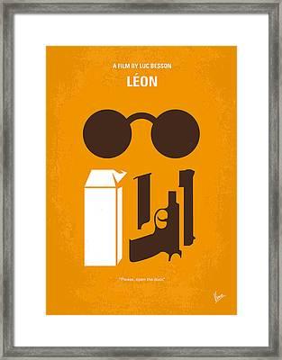 No239 My Leon Minimal Movie Poster Framed Print by Chungkong Art