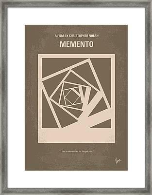 No243 My Memento Minimal Movie Poster Framed Print by Chungkong Art