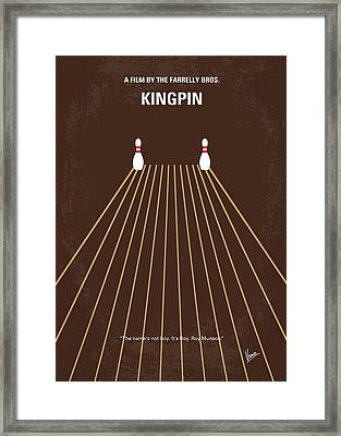 No244 My Kingpin Minimal Movie Poster Framed Print by Chungkong Art