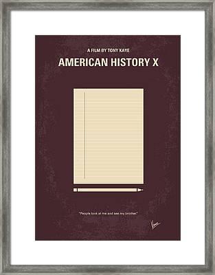 No247 My American History X Minimal Movie Poster Framed Print by Chungkong Art