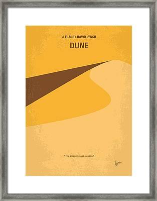 No251 My Dune Minimal Movie Poster Framed Print by Chungkong Art