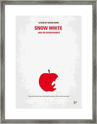 No252 My Snow White Minimal Movie Poster Framed Print by Chungkong Art