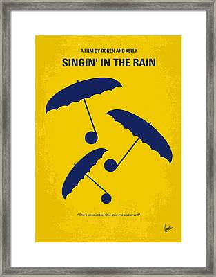 No254 My Singin In The Rain Minimal Movie Poster Framed Print by Chungkong Art