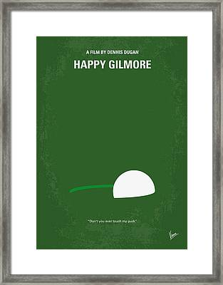 No256 My Happy Gilmore Minimal Movie Poster Framed Print by Chungkong Art