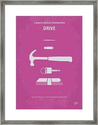 No258 My Drive Minimal Movie Poster Framed Print by Chungkong Art