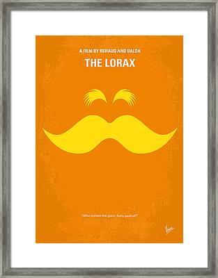 No261 My The Lorax Minimal Movie Poster Framed Print by Chungkong Art