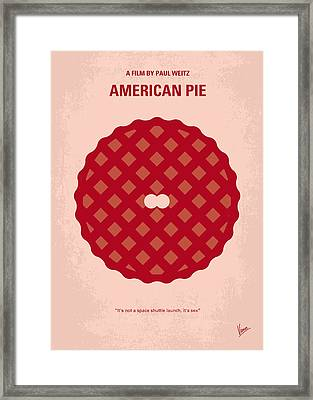 No262 My American Pie Minimal Movie Poster Framed Print by Chungkong Art