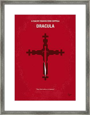 No263 My Dracula Minimal Movie Poster Framed Print by Chungkong Art