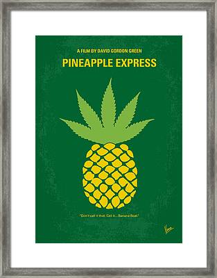 No264 My Pineapple Express Minimal Movie Poster Framed Print by Chungkong Art