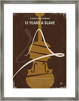 No268 My 12 Years A Slave Minimal Movie Poster Framed Print by Chungkong Art