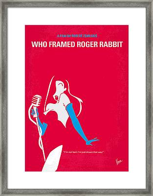 No271 My Roger Rabbit Minimal Movie Poster Framed Print by Chungkong Art