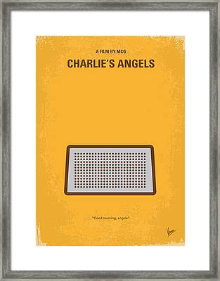 No273 My Charlies Angels Minimal Movie Poster Framed Print by Chungkong Art
