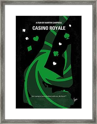 No277-007-2 My Casino Royale Minimal Movie Poster Framed Print by Chungkong Art