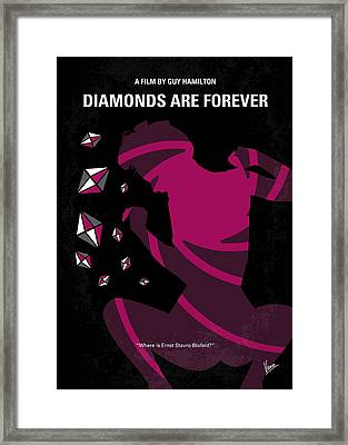 No277-007 My Diamonds Are Forever Minimal Movie Poster Framed Print by Chungkong Art