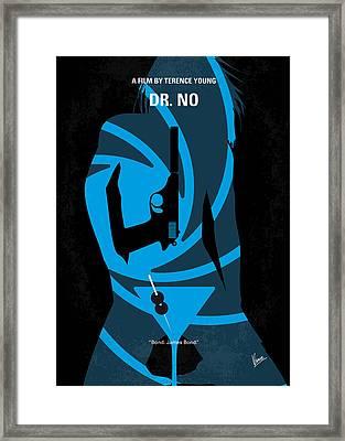 No277-007 My Dr No Minimal Movie Poster Framed Print by Chungkong Art