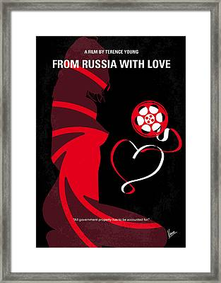 No277-007 My From Russia With Love Minimal Movie Poster Framed Print by Chungkong Art