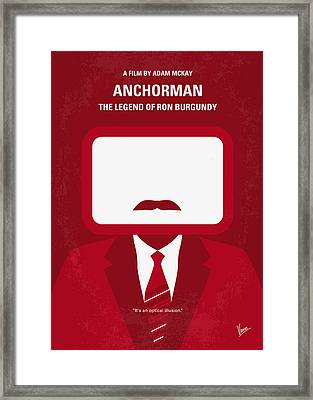 No278 My Anchorman Ron Burgundy Minimal Movie Poster Framed Print by Chungkong Art