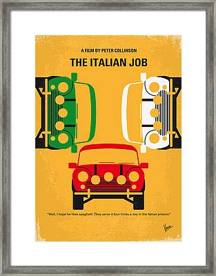 No279 My The Italian Job Minimal Movie Poster Framed Print by Chungkong Art