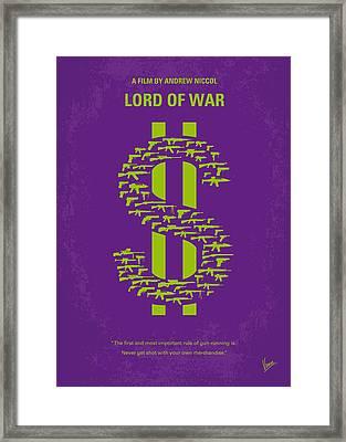 No281 My Lord Of War Minimal Movie Poster Framed Print by Chungkong Art