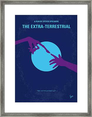 No282 My Et Minimal Movie Poster Framed Print by Chungkong Art