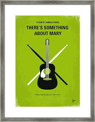 No286 My There's Something About Mary Minimal Movie Poster Framed Print by Chungkong Art