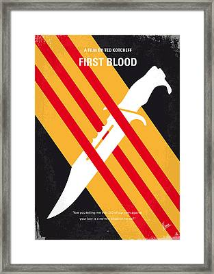 No288 My Rambo First Blood Minimal Movie Poster Framed Print by Chungkong Art