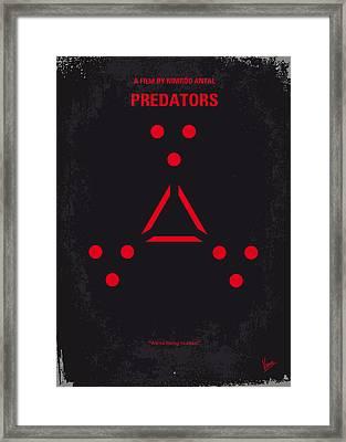 No289 My Predators Minimal Movie Poster Framed Print by Chungkong Art