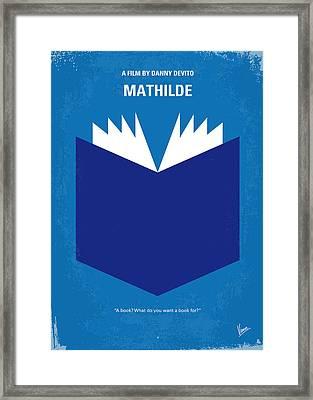 No291 My Mathilde Minimal Movie Poster Framed Print by Chungkong Art