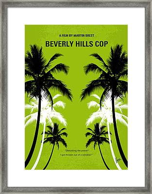 No294 My Beverly Hills Cop Minimal Movie Poster Framed Print by Chungkong Art