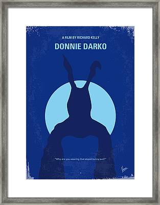 No295 My Donnie Darko Minimal Movie Poster Framed Print by Chungkong Art