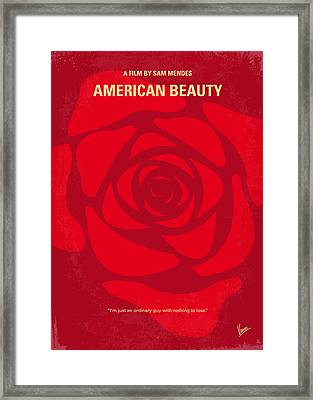 No313 My American Beauty Minimal Movie Poster Framed Print by Chungkong Art