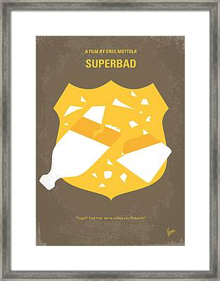 No315 My Superbad Minimal Movie Poster Framed Print by Chungkong Art