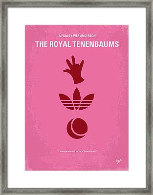 No320 My The Royal Tenenbaums Minimal Movie Poster Framed Print by Chungkong Art