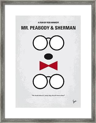 No324 My Mr Peabody Minimal Movie Poster Framed Print by Chungkong Art