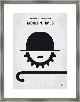 No325 My Modern Times Minimal Movie Poster Framed Print by Chungkong Art