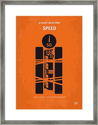 No330 My Speed Minimal Movie Poster Framed Print by Chungkong Art