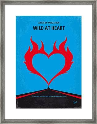 No337 My Wild At Heart Minimal Movie Poster Framed Print by Chungkong Art