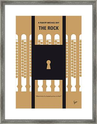 No339 My The Rock Minimal Movie Poster Framed Print by Chungkong Art