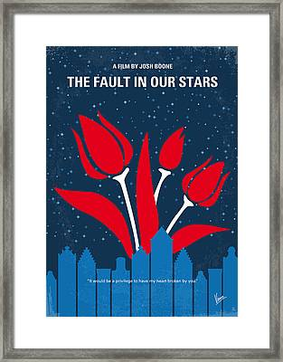 No340 My The Fault In Our Stars Minimal Movie Poster Framed Print by Chungkong Art