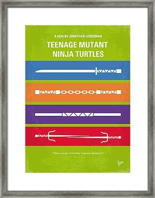 No346 My Teenage Mutant Ninja Turtles Minimal Movie Poster Framed Print by Chungkong Art
