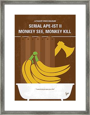 No356 My Serial Ape-ist Minimal Movie Poster Framed Print by Chungkong Art