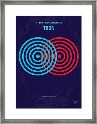No357 My Tron Minimal Movie Poster Framed Print by Chungkong Art