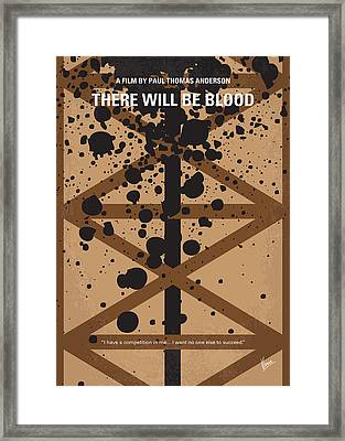 No358 My There Will Be Blood Minimal Movie Poster Framed Print by Chungkong Art