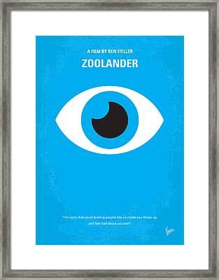 No362 My Zoolander Minimal Movie Poster Framed Print by Chungkong Art