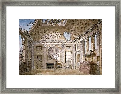 Monastery Of St Trinita Del Monte Framed Print by Charles Louis Clerisseau