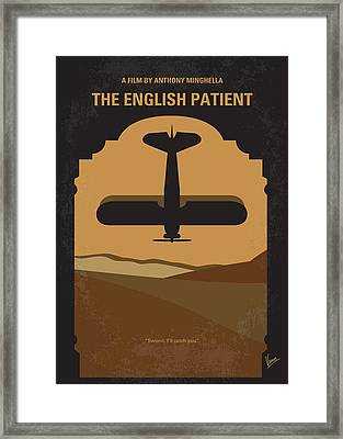No361 My The English Patient Minimal Movie Poster Framed Print by Chungkong Art