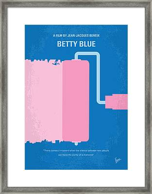 No359 My Betty Blue Minimal Movie Poster Framed Print by Chungkong Art